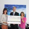 Spendenübergabe in den Räumlichkeiten der Raiffeisen Privatbank Wiesloch-Baiertal